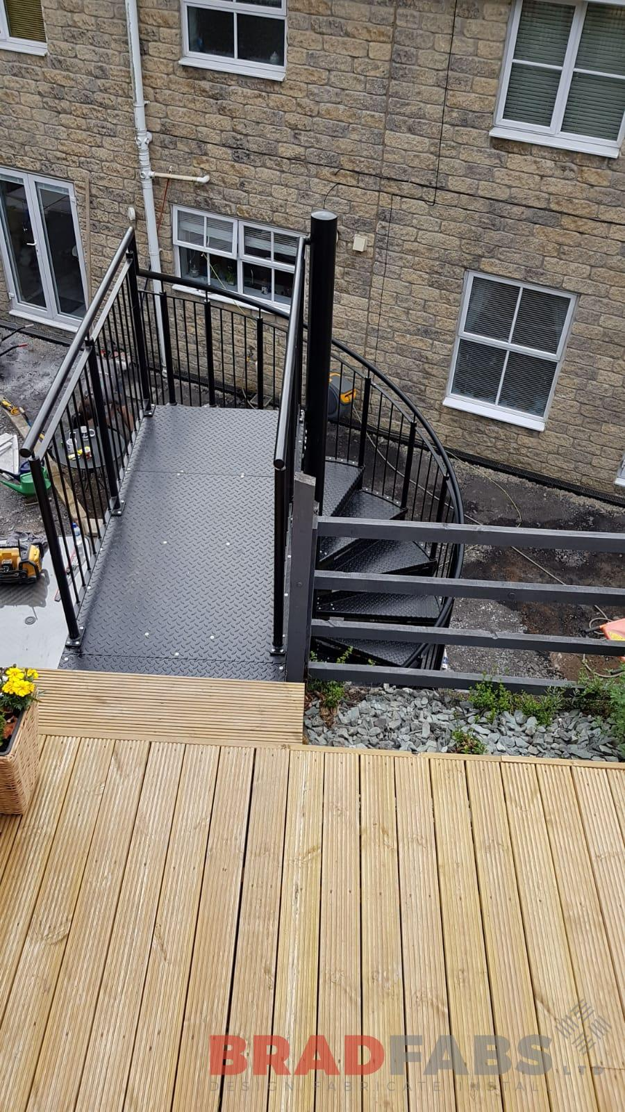 Powder coated garden staircase