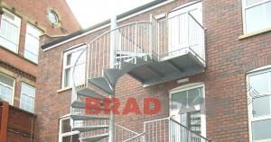 Office Spiral Fire Escape, West Yorkshire