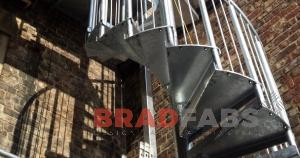 Bespoke design spiral staircases made by Bradfabs
