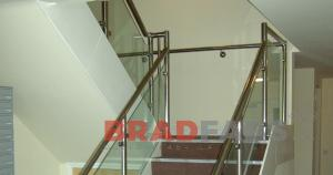 Balustrade fabricated by Bradfabs, Stainless steel and glass staircase balustrading