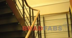 commercial steel balustrade fabricated and installed in bradford, installed in west yorkshire
