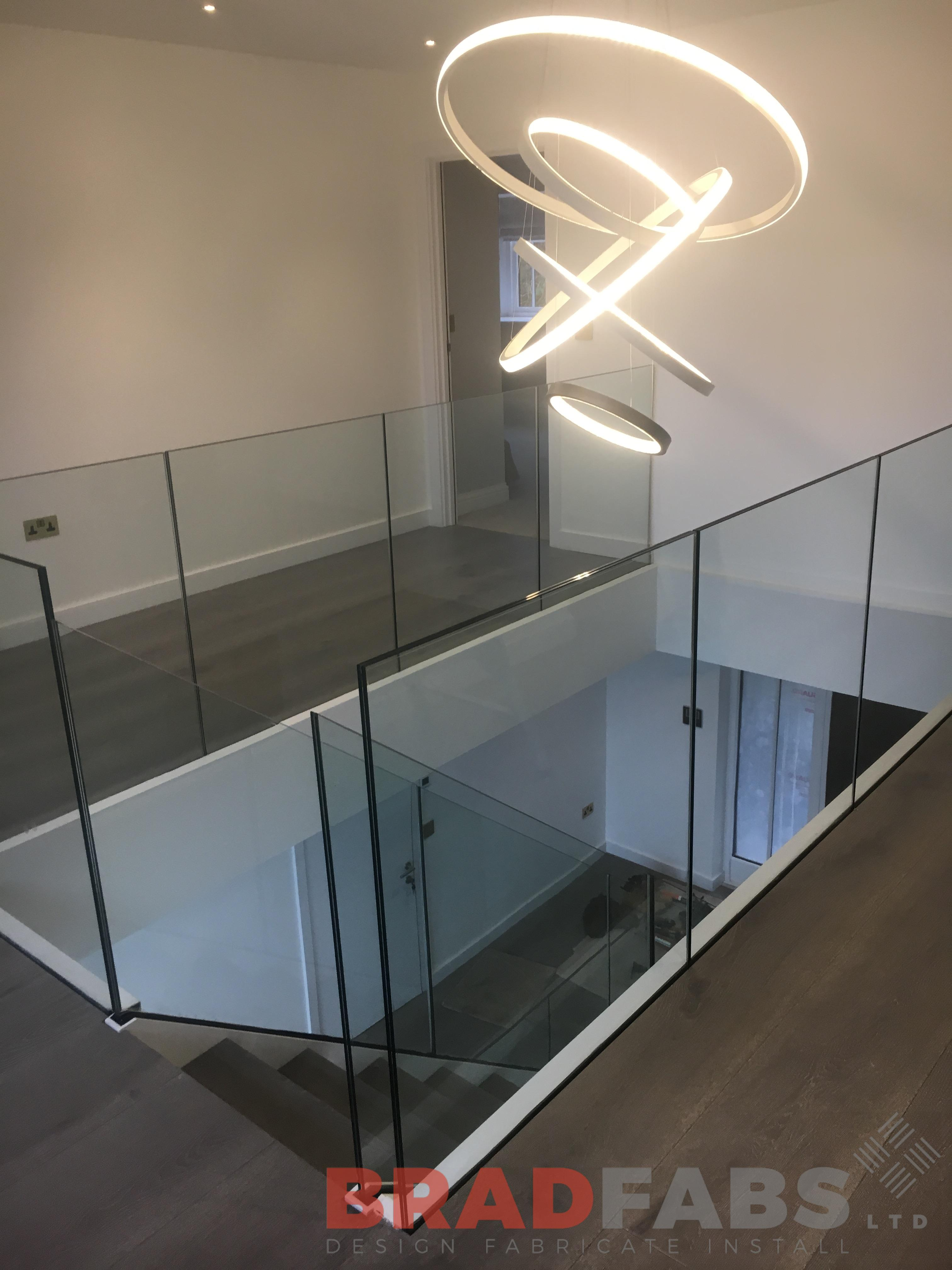 frameless glass balustrade installed by Bradfabs