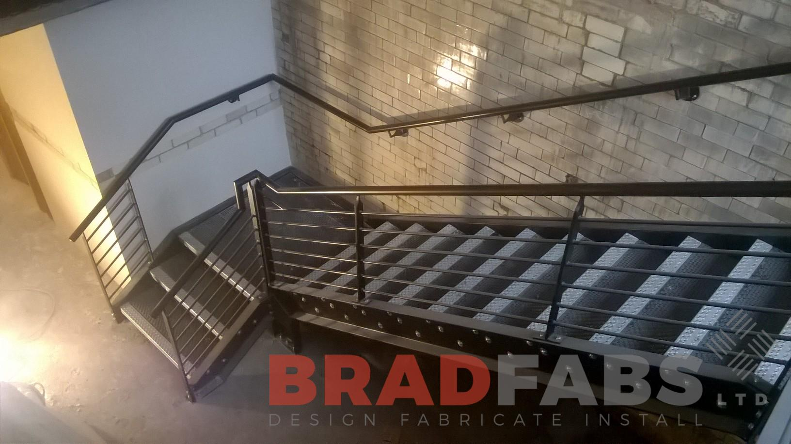 Bradfabs experts in steel commercial staircase