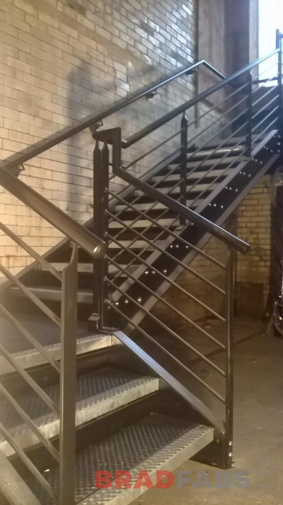 Industrial steel staircase in Bradford