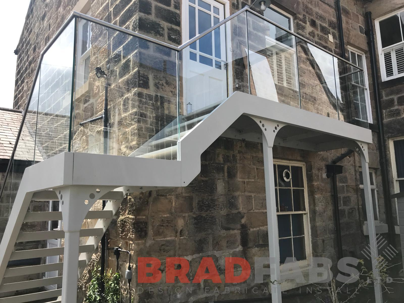 Stunning metal and glass staircase by Bradfabs