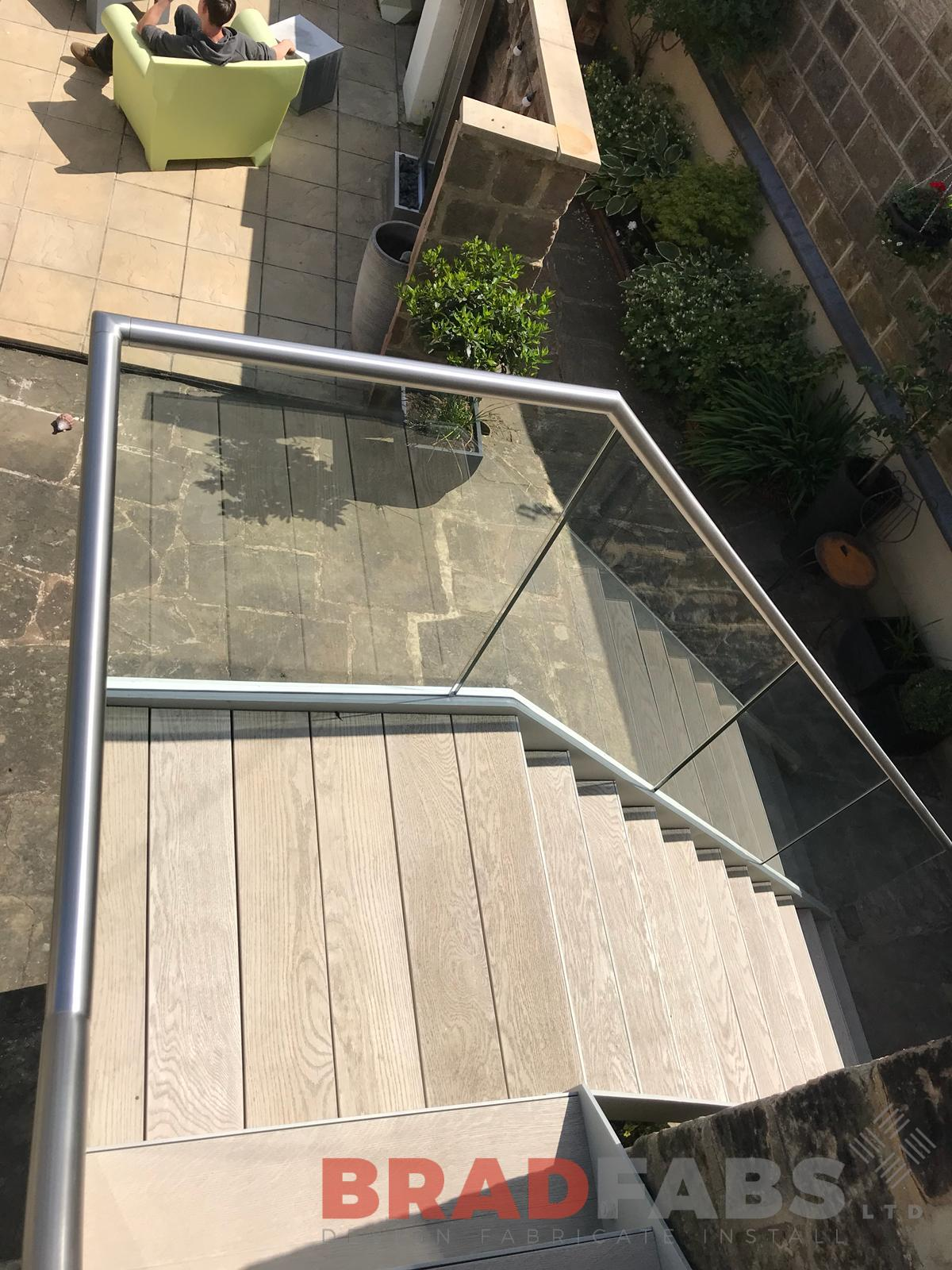 millboard treads and landing on Fire Escape by Bradfabs