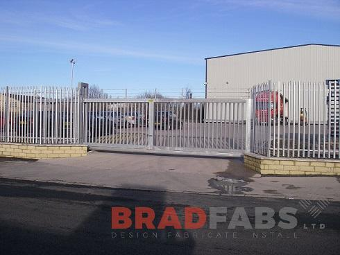 Bespoke gates, mild steel and galvanised gates, commercial property gates, Bradfabs  Ltd