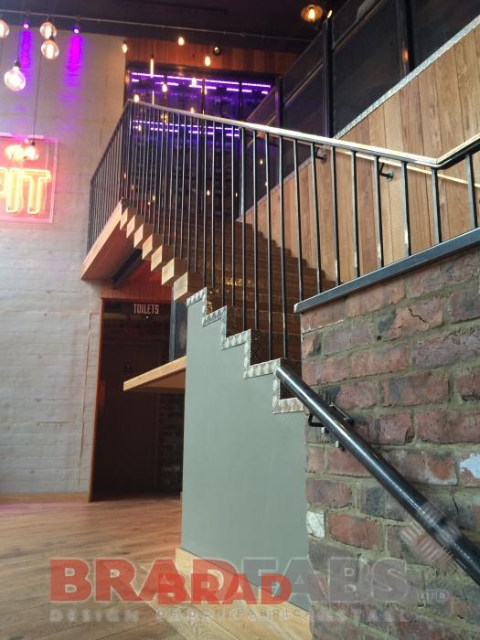 Staircase Balustrade with industrial look