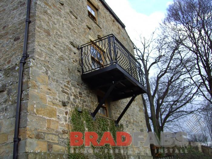 Steel Balcony made by bradfabs in west yorkshire