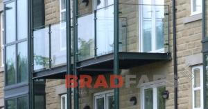 Apartment balcony Structure manufactured by BRADFABS in West Yorkshire, UK