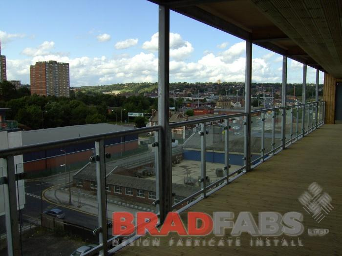 Bradfabs made the steel walkway structure to fit on the front of a set of apartments in Leeds City Centre