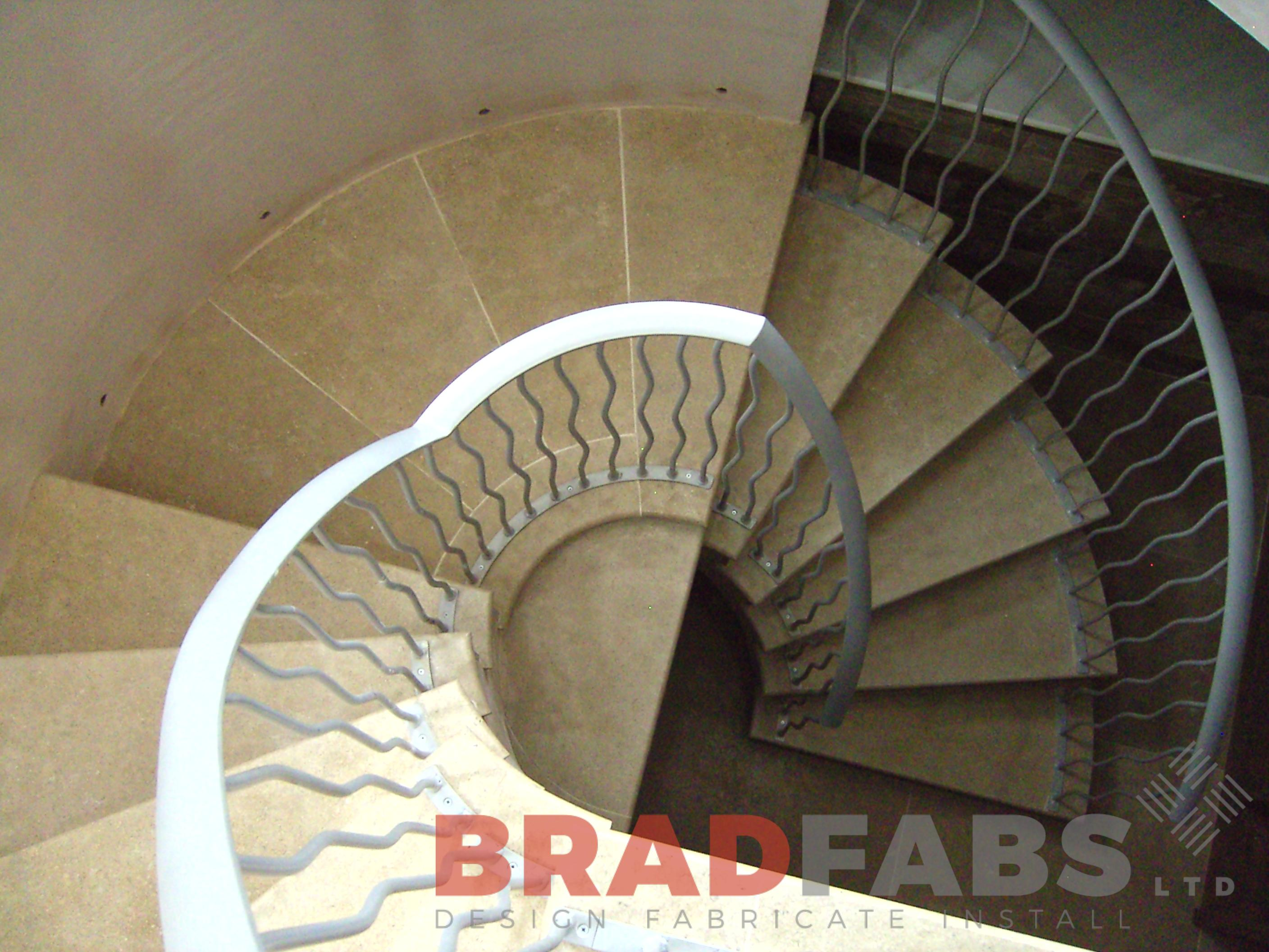Balustrading fabricated and installed by Bradfabs in Bradford West Yorkshire