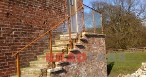 Powder Coated Steel Balustrade - installed in West Yorkshire
